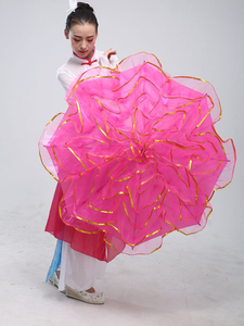 Image 5 - Accessoire de danse du ventre, cadre à fleurs, ouverture en éventail, danse du ventre, Performance