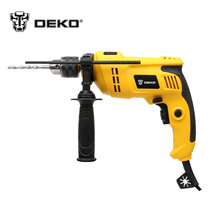 DEKO 220V 2800rpm Speed Adjustable 13mm AC Impact Drill Electric Hammer Electric Drill Power Drill Woodworking Power Tool