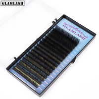 GLAMLASH Mix 7~15 mm 16 lines handmade korean pbt eyelash extension natural soft faux mink eyelashes lashes for extension
