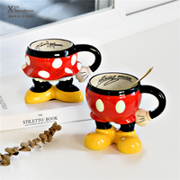 Mickey Minnie Ceramic coffee mug cup creative cartoon couple cup breakfast milk mug home water cup for birthday gift
