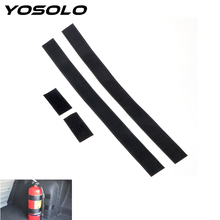 YOSOLO 60×5 cm Extintor de Incêndio Montagem Tiras Fixas Diversos Organizador Mala Do Carro Carro-styling Estiva Tidying