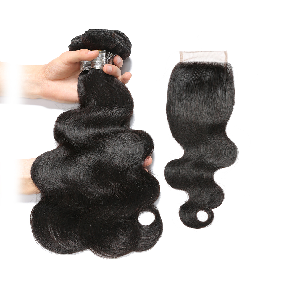 Lumiere Hair Malaysian Body Wave Human Hair 3 Bundles With Closure 100 Human Hair Bundles With