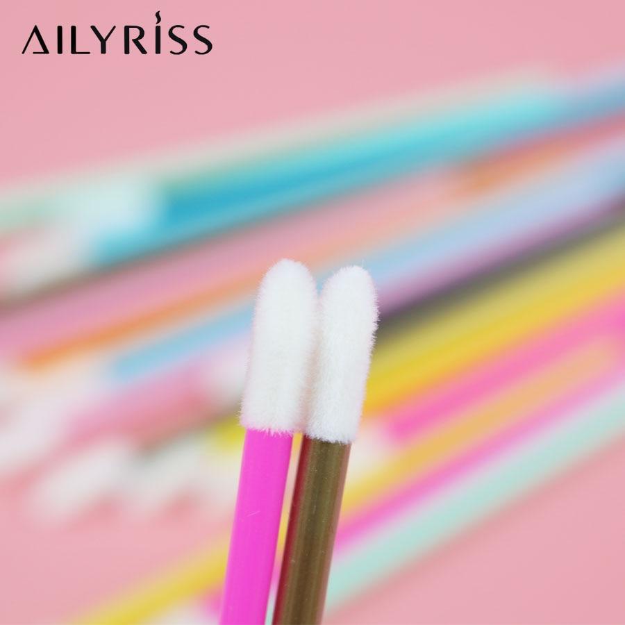 Image 3 - Disposable Lip Brushes 50 pcs Eyelash Cleaning Brush Makeup Removing Tools Lipstick Lip Gloss Wands Applicator Tool Lip Brush-in False Eyelashes from Beauty & Health