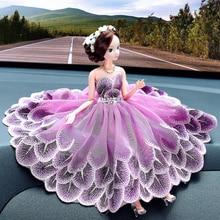 wedding decoration Car decoration lady Barbie doll creative car ornament lovely lace veil car decorative gift cutting dies