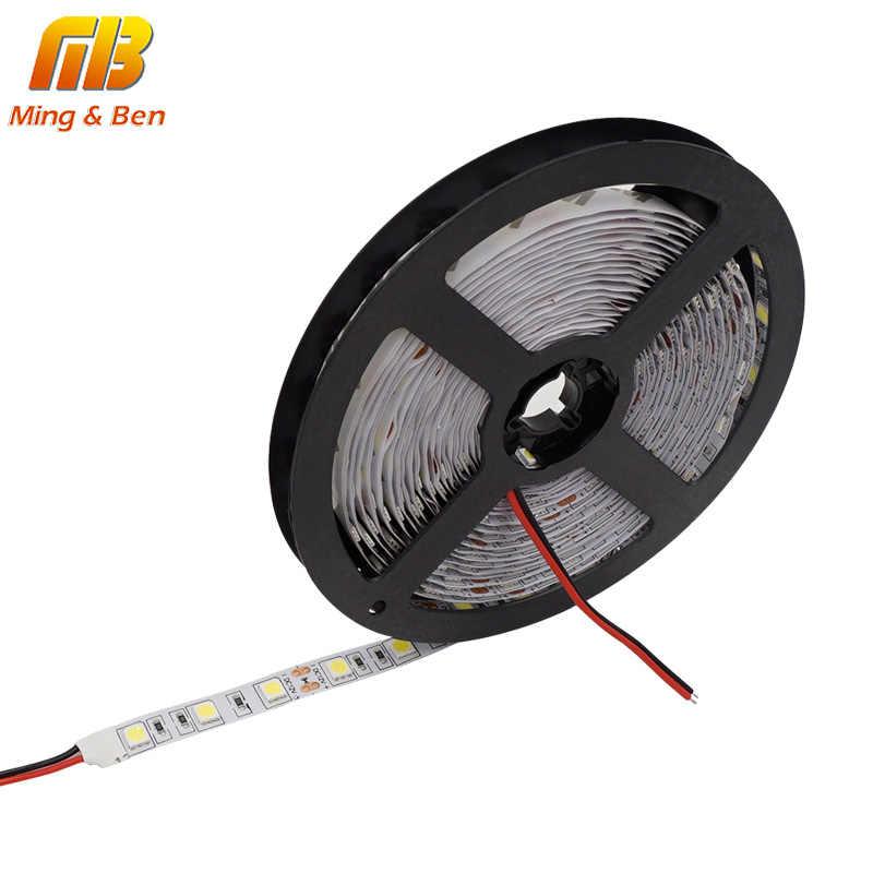5 м Светодиодная лента SMD5050 гибкий светильник 60 светодиодный s/M 12 В DC водонепроницаемый P65 IP20 клейкая лента Белая теплая белая холодная белая RGB светодиодная лента