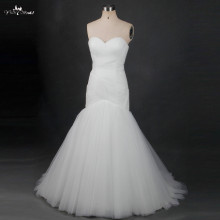 TW0187 2018 Vestido De Novia Sweetheart Pleat Bridal Wedding Gown Real Photos Mermaid Wedding Dresses