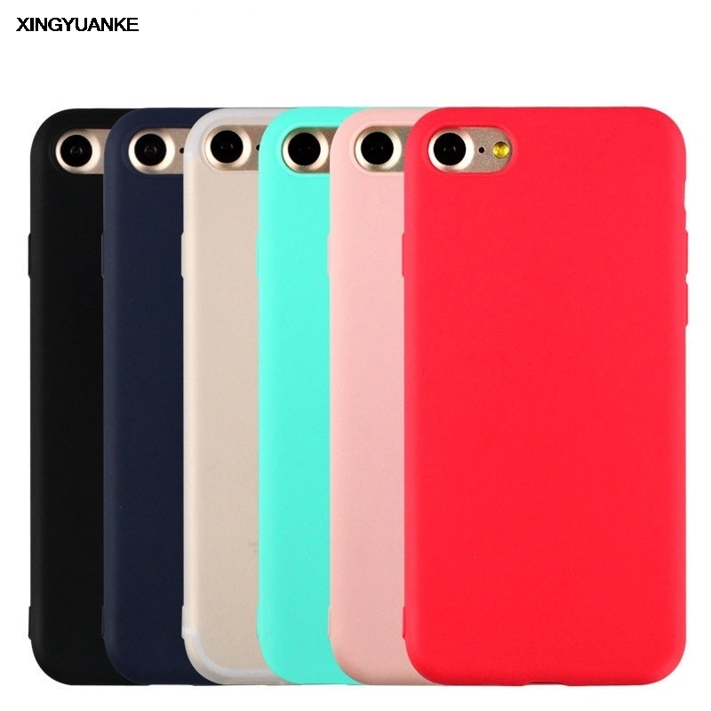 For iphone 7 plus phone cases candy color For iphone 6 6s plus case For apple iphone 5 5se back cover case TPU silicone