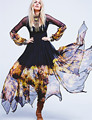 2016 Boho Women Dress Summer Chiffon Sexy Dresses Full Sleeve V-neck Long Dress Bohemian Floral Print Dress