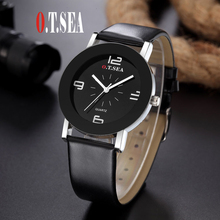 2016 Prime O.T.SEA Model Informal Leather-based Watch Trend Males Ladies College students Quartz Analog Watches Relogios Feminino w369