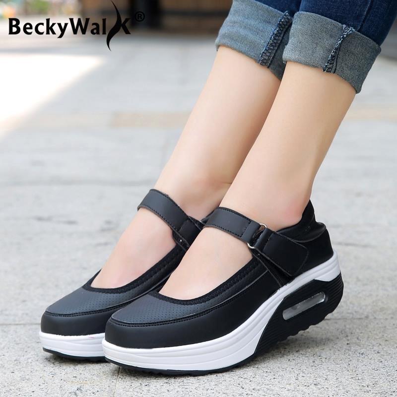 Big Size Flat Platform Shoes Woman Spring Summer Ladies Height Increasing Shoes Women Casual Platform Sneakers 35-42 WSH3298