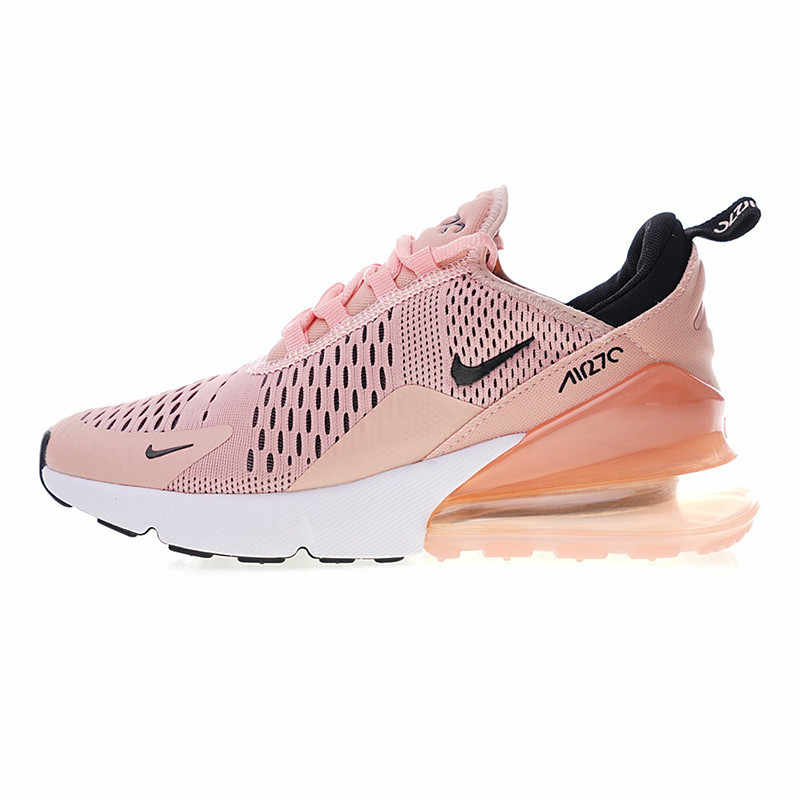 Оригинальный Nike Оригинальные кроссовки Air Max 270 Для женщин Беговая спортивная обувь из дышащего материала Спортивная обувь Дизайнерские, легкие, прочные, AH6789
