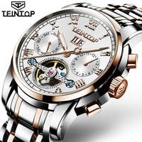 Mechanical Watch Men TEINTOP Role Luxury Brand Men Watches Skeleton Tourbillon Wrist Sapphire Men Watch Waterproof Luminous