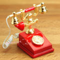 Dollhouse Miniature 1:12 Toy A Metal Red Phone Telephone Height 2.7cm SPO195