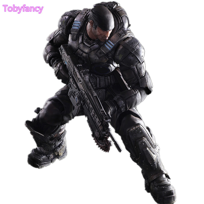 Gears of War 3 Action Figure Play Arts Kai Marcos 260mm PVC Model Toy Anime Playarts Kai Gears of War Figurine Doll Toys Gift фигурка gears of war 4 jd fenix 17 см