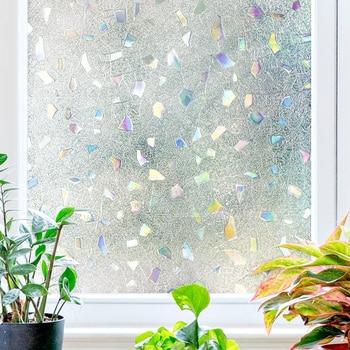 Keine-Kleber 3D Laser Elektro glas film Dekorative Gefrostet Fenster ...