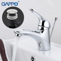GAPPO water mixer bathroom basin sink faucet brass bathroom mixer taps modern bathroom faucet chrome basin mixer tap G1038