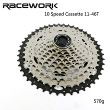 10 Speed Cassette RACEWORK 11-46T MTB Bike Cassette 10 Speed Mountain Bicycle Freewheel MTB BMX For SRAM Shimano m6000