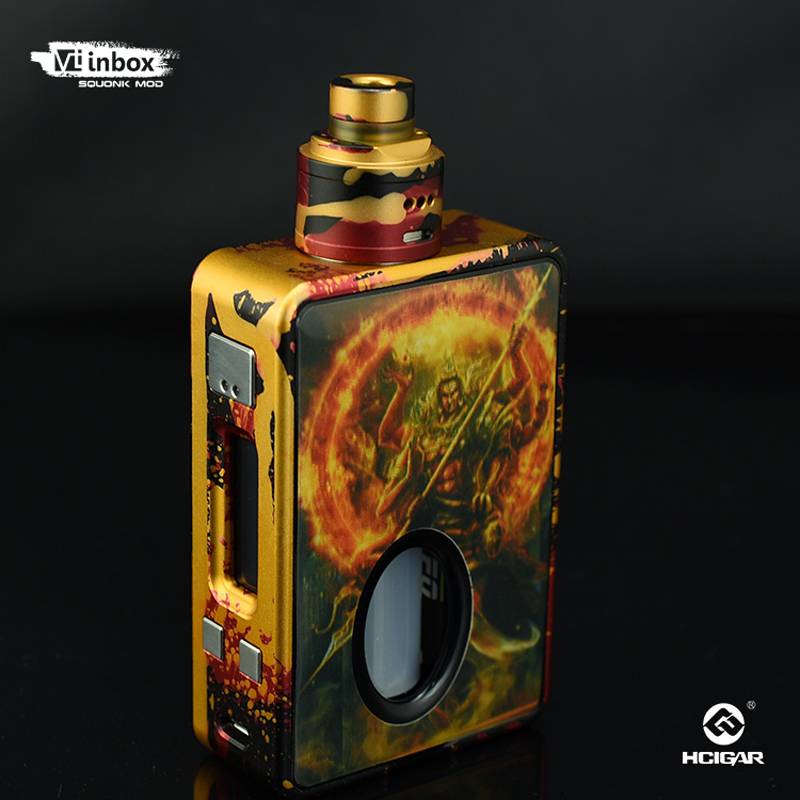 Original HCigar VT inbox Squonker Box Mod 75W Vape with Maze V1.1 RDA Tank Powered by Evolv TC DNA75 Chip E Cigarette original lost vape therion dna75 75w tc box mod