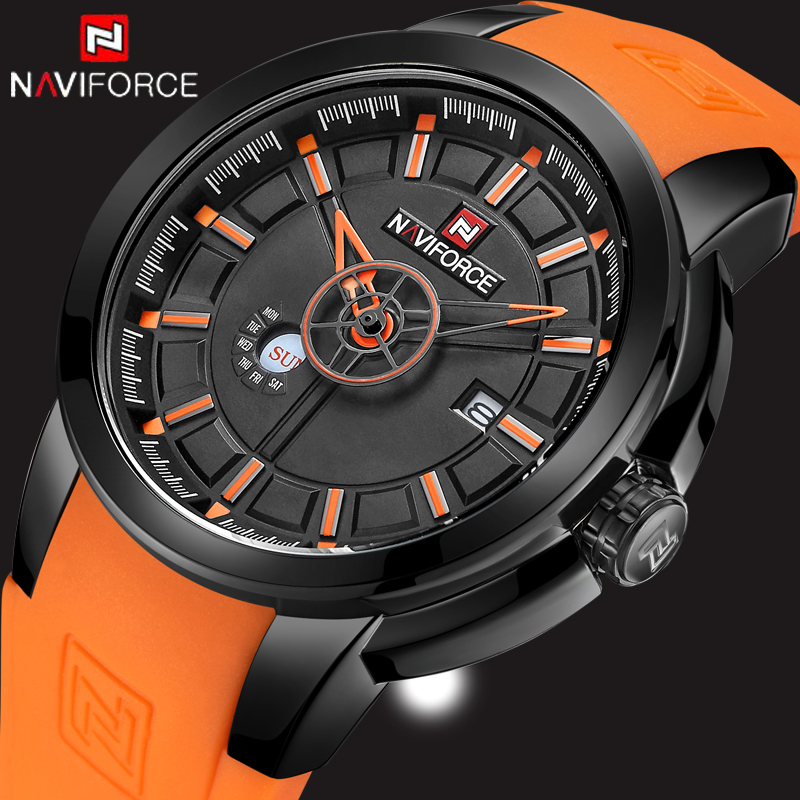 New Men s Watches Top Luxury NAVIFORCE Brand Fashion font b Sport b font Military Watch