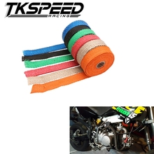 CAR MOTORCYCLE Incombustible Turbo MANIFOLD HEAT EXHAUST THERMAL WRAP TAPE & STAINLESS TIES 1.5mm*25mm*5m