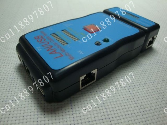 Cable Tester LAN USB RJ45 RJ11/RJ12 Network Ethernet CAT5 UTP Multi-Modular PC Free Shipping