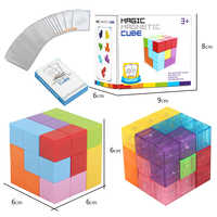 Cube Magnet magnetic Cubes toys 3x3x3 Cubo Puzzle Educational Toys Multiple shapes Rubiking Cube Christmas Birthday Gifts