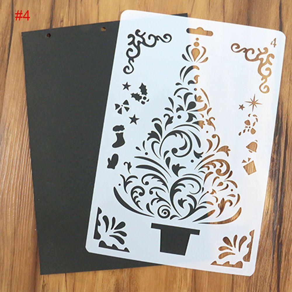 1PC DIY Christmas Tree Pattern Painting Template Bullet Journal ...