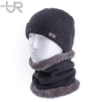 2Pcs Set Men 100 Soft Wool Warm Winter Hats Ring Scarf For Men And Women Cashmere
