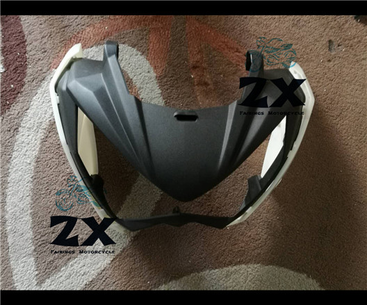 Motorcycle for Front  Black Front Upper Cowl Nose Fairing Fit For Kawasaki Z250 2013-2015 Z300 2014 injection ZXMT z 250 head black motorcycle front