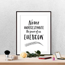 Eyebrow Canvas Poster Beauty Salon Wall Art Print Makeup Quotes Painting Black and White Picture Home Room Wall Decoration(China)