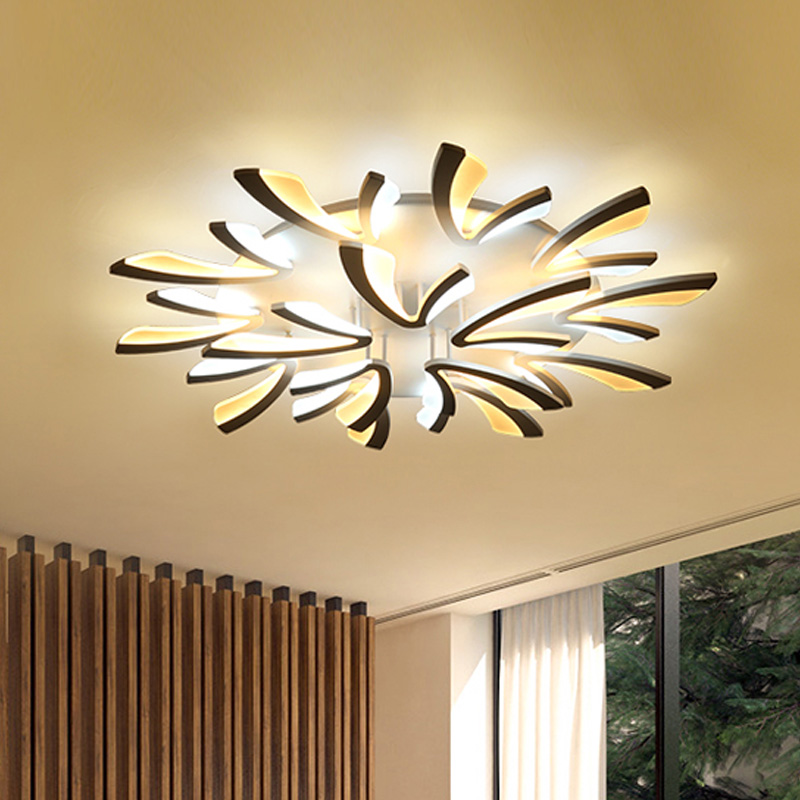 Black Modern LED Ceiling Lights Fixtures For Living Dining Room Bedroom Acrylic Lampshade Indoor Home Lighting Plafondlamp цена