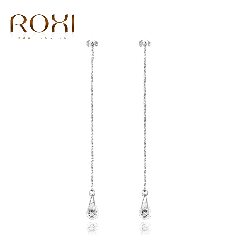 Roxi High quality Fashion White Gold Plated Double H Design s