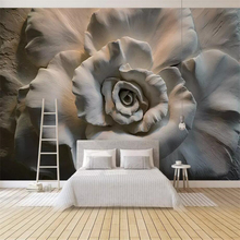 beibehang Custom Wallpaper 3D Stereo Murals Relief Roses Living Room bedroom Background Wall papel de parede 3d wallpaper mural цена 2017