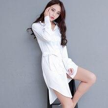 Women White Long Blouse New Fashion OL Long Shirt Women Tops Long Sleeves Turn-down Collar Casual Blusas Mujer Plus Size S-2XL