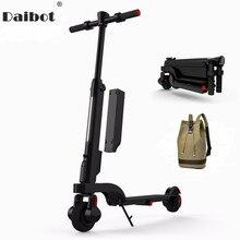 Daibot X6 электрический самокат два колесных электрических скутеров амортизатор/подвеска Портативный e-скутер 24 V для взрослых