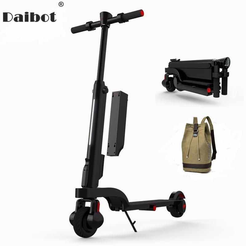 Daibot X6 Kick Scooter Elétrico de Duas Rodas Scooters Elétricos Shock Absorber/Suspensão Portátil scooter E-24 V Para adultos