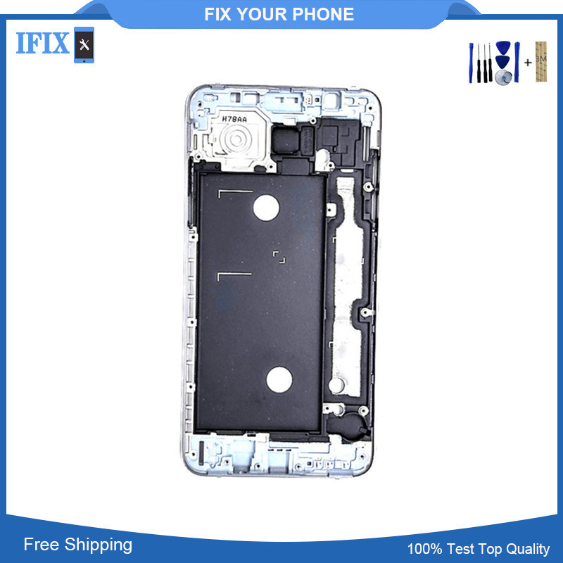 Front Frame For Samsung Galaxy J7 2016 J710 Front Plate Bezel Metal Housing Cover Replacement Part Sliver Gray Gold High Quality