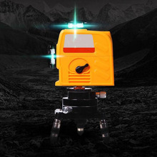 360 Degree Automatic Leveling Blue Laser Level Meter Dual Power Supply Infrared Instrument Line