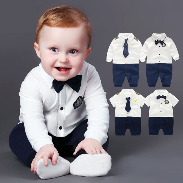 0a0c26d0f45b Newborn Baby Boy Rompers 100% Cotton Gentleman Body Suit Bow Leisure  Clothing Set Toddler Jumpsuit Baby Boys Brand Clothes
