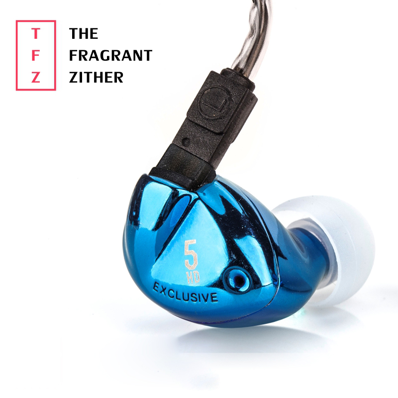 The Fragrant Zither TFZ EXCLUSIVE 5 Dynamic Wired In Ear Earphone HD Resolution HiFi DJ Monitor Headphones 2 Pins Interface 9MM