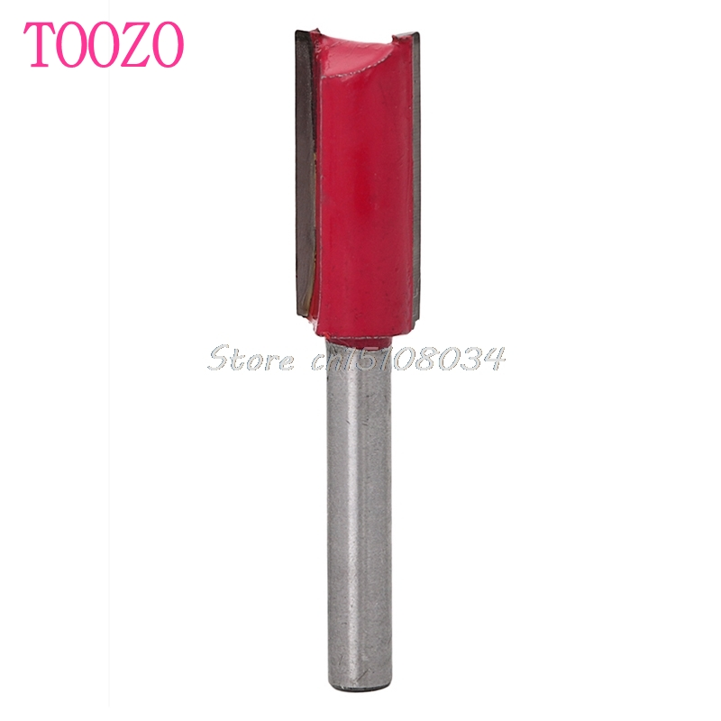 1/4 Shank 1/2 Blade Woodworking Double Flutes Straight Router Bit Cutter Tool #S018Y# High Quality high grade carbide alloy 1 2 shank 2 1 4 dia bottom cleaning router bit woodworking milling cutter for mdf wood 55mm mayitr