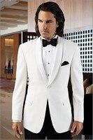2018 последние конструкции пальто брюки белый платок нагрудные Мужчины костюм черный Штаны официальные костюмы для свадьбы Вечеринка стройн