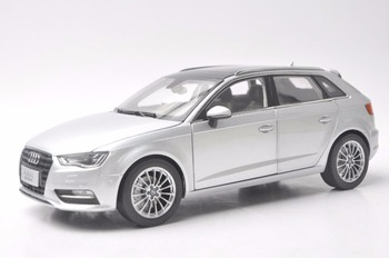 1:18 Diecast Model for Audi A3 Sportback Silver SUV Alloy Toy Car Miniature Collection Gift S3 image
