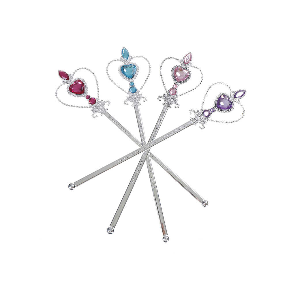 1 takım çocuk elmas taçlar Tiaras + değneklerini kız prenses Elsa Cosplay aksesuarları çocuklar noel partisi hediye