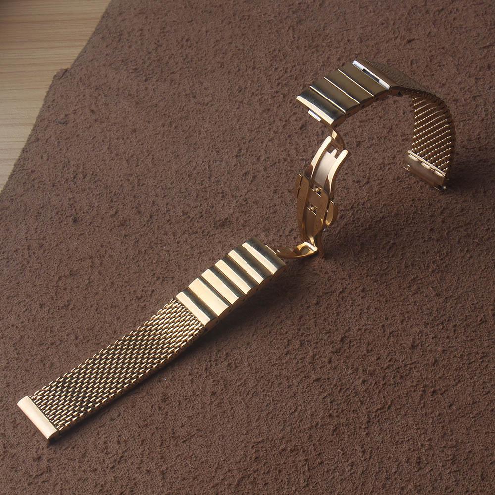18mm 20mm 22mm 24mm Bracelet bretelles Mens Bracelet de montre REQUIN MAILLE Solide liens bande en acier inoxydable Bracelet en acier déploiement ceinture