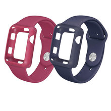 Case+strap for apple watch band 42mm/38mm iwatch bracelet case Silicone protective cover+watchband 3