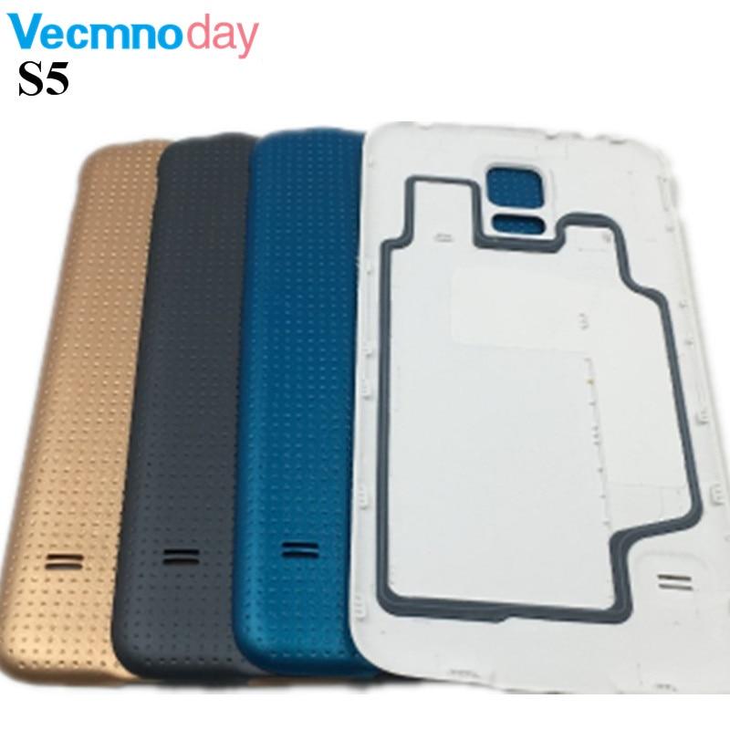Vecmnoday Retour Logement Pour Samsung Galaxy S5 i9600 G900 G900F G900H SM-G900F Retour Housse Batterie Porte Arrière Pièces De Rechange