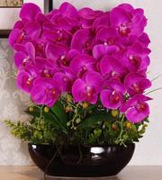 Искусственный цветок фаленопсис цветок моделирования люкс гостиная украшения ваза украшения