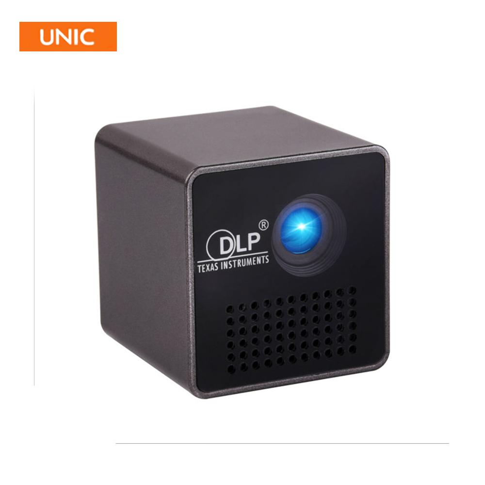 Prix pour D'origine unic smart p1 portable projecteur de poche numérique lcd full hd home cinéma cinemapico portable proyector vidéo beamer