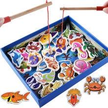 Անվճար առաքում Երեխաների ծովային կենսաբանական ճանաչողության ձկնորսական խաղ. Վաղ գլխին Սկսեք մարզվել Ձկնորսական բլոկներ Ձեռք բերելով երեխայի նվերը